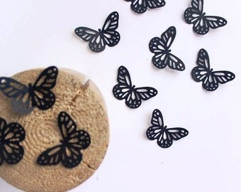 Black Paper Butterflies Die Cuts Butterfly Shapes Confetti Wall Decoration