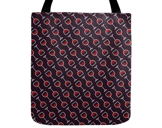 Wine Tote Bag - Icon Prints: Drinks Series