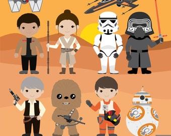 Star Wars Digital Clipart, The Force Awakens