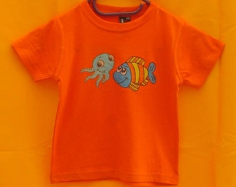 Child t-shirt hand painted