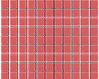 1-inch coral pink glass tile (J1520)