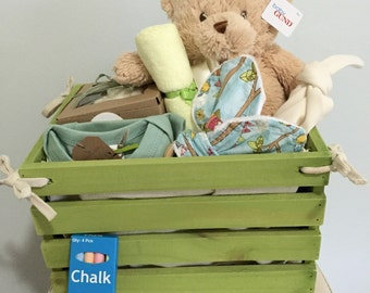 Baby Gift Basket-go green-ORGANIC basket for a new baby!