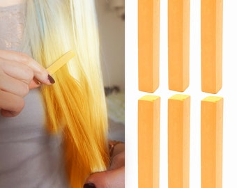 6 Best Temporary Pastel Orange hair Dye for dark and light hair - Set of 6 | DIY Pastel Orange hair Chalk for easy and simple hair coloring