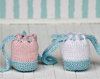 Handbag for Blythe doll - Beach handbag - Knitted handbag