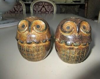 JAPAN OWL SALT and Pepper Shakers