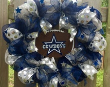 Dallas Cowboys, Dallas Cowboys front door wreath, Cowboys football, Dallas Cowboys front door sign, Dallas Cowboys gift, Dallas Cowboys fan
