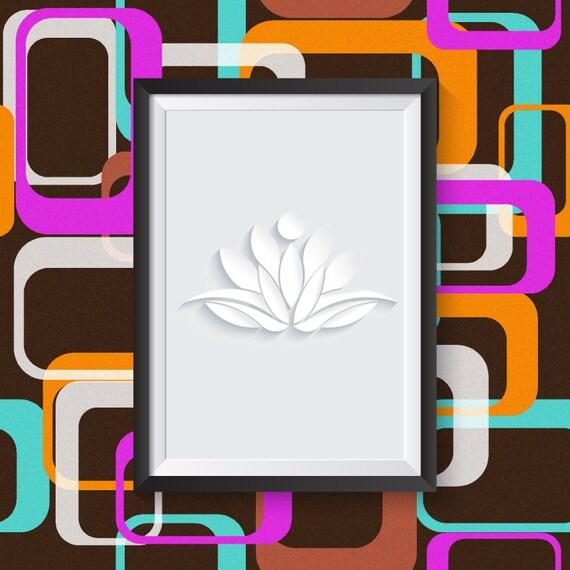 Items Similar To Printable Wall Art, Lotus Print, Lotus