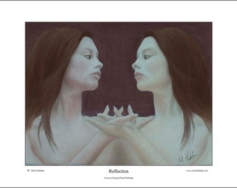 Reflection,  Fine Art Print from my original Pastel painting by Meriel Hebden.