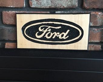 FORD Logo - Garage Wood Sign