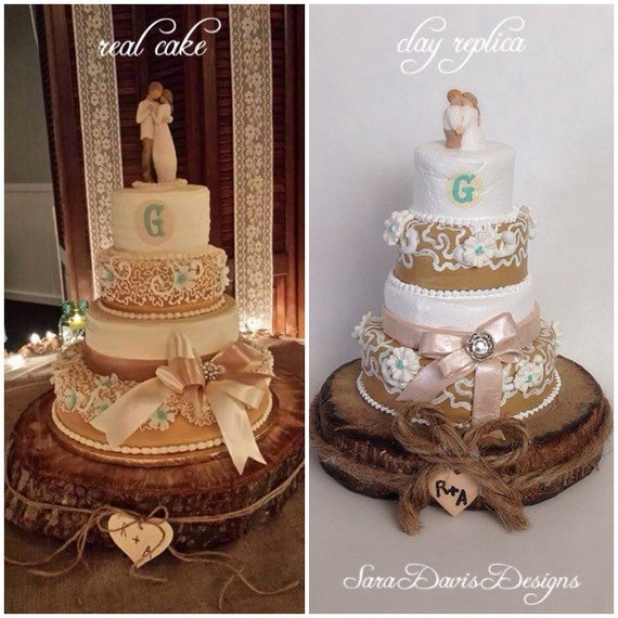 wedding cake first year anniversary wedding cake replica 1st anniversary gift by saradavisdesigns 22622