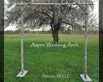 Aspen Wedding Arch Arbor Complete Kit For Indoor Or Outdoor Weddings Rustic