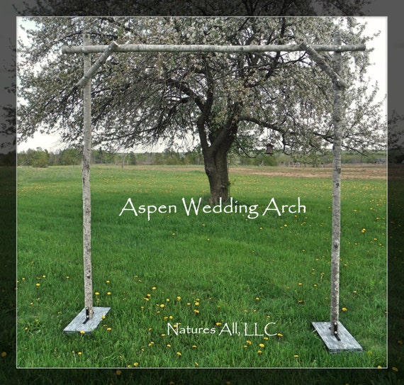 Rustic Outdoor Wedding Arches For Weddings: Aspen Wedding Arch/Aspen Arbor/Complete Kit For Indoor Or