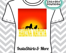 INSTANT Download Hakuna Matata Digital Image