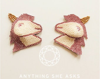 Pink and Pearl unicorn nipple pasties