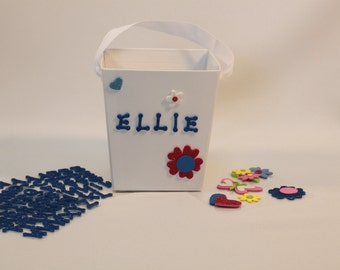 Decorate  your own party favor boxes/buckets with foam stickers