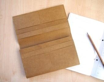 Washable Paper Long Wallet / Passport holder/ Travel wallet organizer /  Gifts for traveller Organizer Card Holder Case Washable Kraft Paper