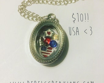 USA Police Military Wife USMC Marine Corps Navy Sailor Army Air Force National Guard Floating Charm Memory Locket