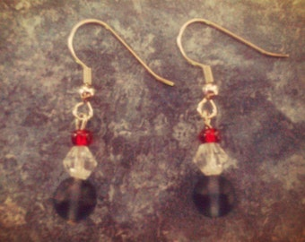 FREE SHIPPING - Red, White, and Blue Earrings