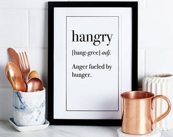 HANGRY Funny Definition Art Print