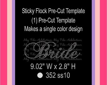 Unique rhinestone template related items etsy for Sticky flock pre cut templates