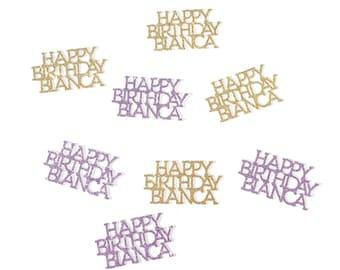 Happy Birthday Confetti   Birthday Confetti   Personalized Birthday Confetti   Custom Birthday Confetti