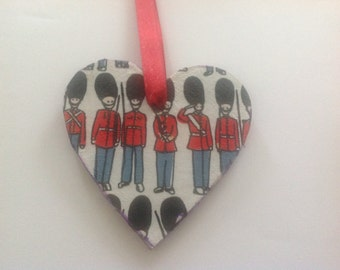 Cath kidson paper decoupaged 3mm wooden hanging heart