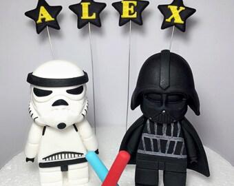 Fondant Star Wars cake topper