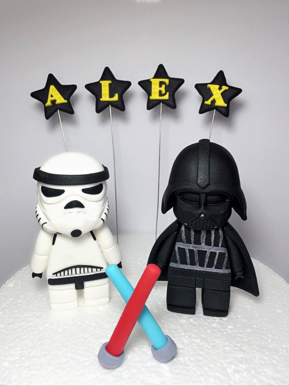 Star Wars Birthday Party Fondant Cake Toppers Birthday Wikii
