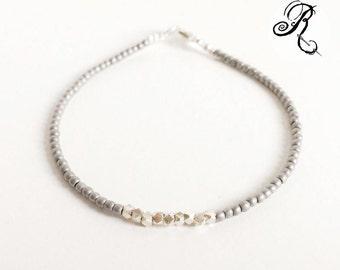 Delicate - Puristic Bracelet - Karen Hill Tribe Silver / platin / hematite - Elegant Bracelet - Friendship Bracelet - Silver Bracelet