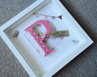 Wooden letter box frame, baby shower gifts, new baby gifts, baby girl gifts, baby boy gifts, birthday gifts, children's gifts, personalised