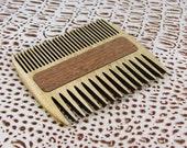 Wooden beard comb. gift to men, double comb