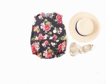 Summer Floral Romper// toddler romper//baby romper
