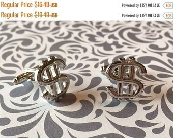 ON SALE ON Sale Dollar Sign Currency Cufflinks Money Wedding Gift