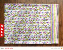 Sale -  Bird life Pillowcase, Cotton pillowcases, Set of two.