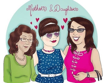Mother's day illustration gift