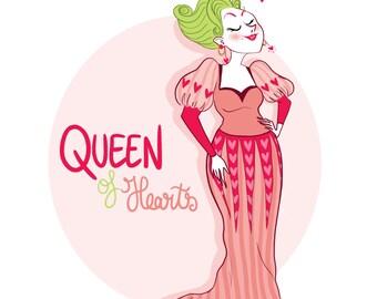 Queen of Heart - Postcard