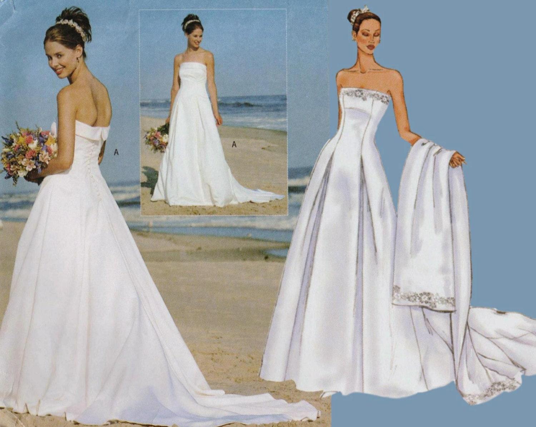 Strapless Wedding Dress Pattern Beach Wedding Dress BUTTERICK