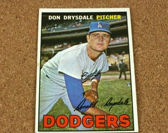 Don Drysdale 1967 TOPPS Baseball Card - Card Number 55 - Near Mint Condition