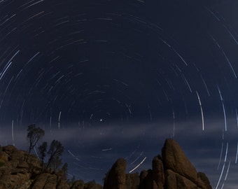 Star Trails in the Night Sky - galaxy, astrology, stars photography
