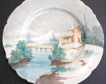 vintage french Limoges porcelain plate