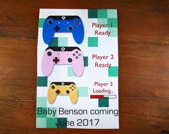 Video game baby announcement- Digital