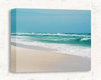 Beach Decor, Beach Wall Art, Turquoise Blue Wall Decor, Landscape Photography, Bedroom Wall Decor, Bathroom Wall Decor, Beach Landscape