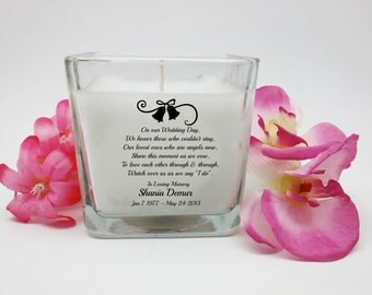 Wedding Memorial Candle, In Loving Memory, Wedding Candles, Memorial Candles, Angel Candle, Sympathy Candle