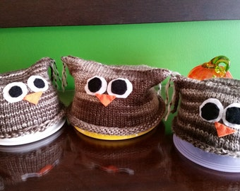 Wise Owl hats for babies/toddlers