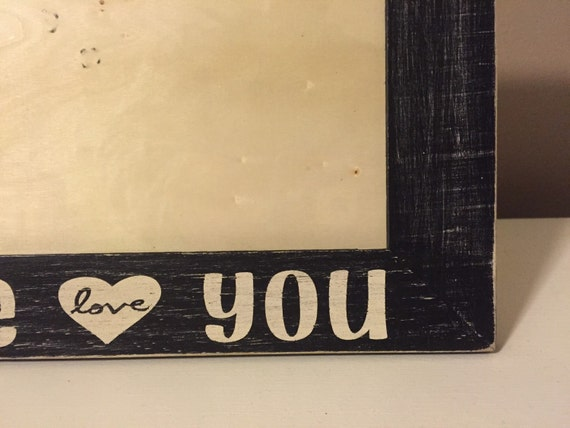 Horziontal Distressed Wooden Picture Frame Hand Painted