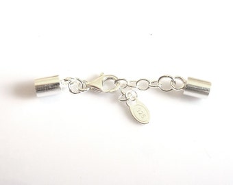 Clasp and end caps 925 Silver Cord 2mm LC0050-067