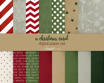 December Daily digital kit bundle - digital papers - Christmas scrapbooking kit - printable