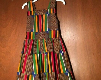 Baby girl African dress and hat