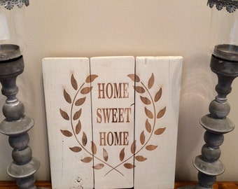 HandMade Laser Engraved Pallet Sign Home Sweet Home