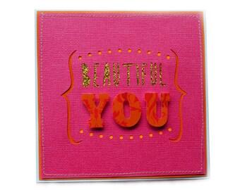 BEAUTIFUL YOU Blank Handmade Card